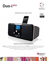 Boston Acoustics Duo-i plus BADUOIPB-EU Leaflet