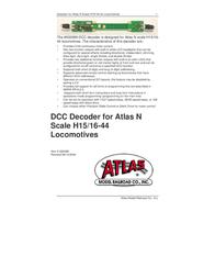 Atlas DCC Decoder 520099 User Manual