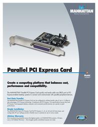 Manhattan Parallel PCI Express Card 160469 Leaflet