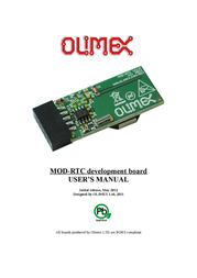 Olimex REAL TIME CLOCK INTERFACE BOARD WITH PCF8563 AND UEXT MOD-RTC MOD-RTC User Manual