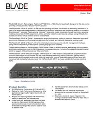 BLADE Network Technologies RackSwitch G8100 BN-8100F-BDL User Manual