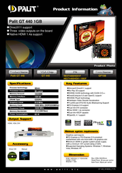 Palit NE5T4400HD01F Leaflet