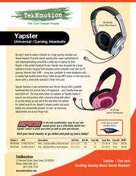 TekNmotion Yapster TM-YW100A Leaflet