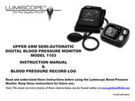 Lumiscope 1103 User Manual