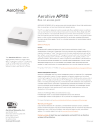 Aerohive AP-110 AH-AP-110-N-W Data Sheet