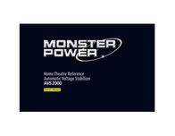 Monster Power AVS 2000 Voltage Stabilizer 109291 User Manual
