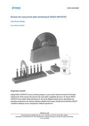 Knosti Disco Antistatic Record Cleaner Disco Antistat User Manual