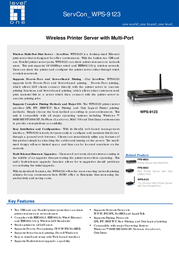 LevelOne Wireless Printer Server w/ Multi-Port WPS-9123 Leaflet