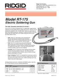 Ridgid RT-175 196 Leaflet