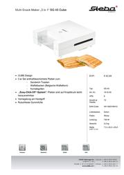 Steba SG 45 18.45.00 Leaflet