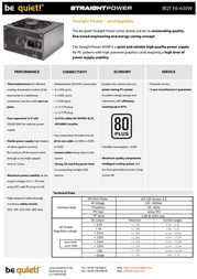 be quiet! Straight Power E6 650W BN088 Leaflet