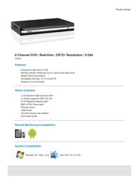 Q-See QS458 500GB QS458-5 Leaflet