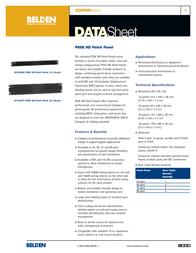 Belden PS5E HD-110 Patch Panel, 1U, 24-port, black AX100452 Leaflet