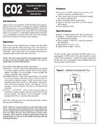 M-AUDIO CO2 Leaflet