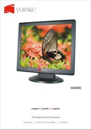 "Yuraku MA9B-D LCD Monitor 19"" LCM-YUR-01009 Leaflet"