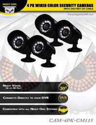 NIGHT OWL CAM-4PK-CM115 User Manual