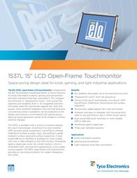 Elo Touch Solution 1537L E618601 Leaflet