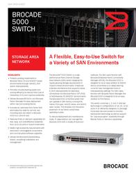 Brocade 5020 High-Performance Midrange Switch BR-5020-0000-A Data Sheet