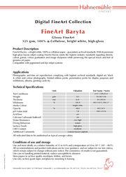 Hahnemühle FineArt Baryta A4 HAH10640469 Leaflet