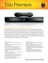 TiVo Premiere TCD746500 Leaflet