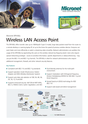 Micronet Wireless LAN Access Point SP918GL SP918GL Leaflet