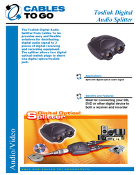 C2G Toslink Digital Audio Splitter 27027 Leaflet