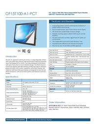 AIS OF15T100-A1-PCT Leaflet