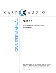 Cary Audio Design SLP 05 User Manual