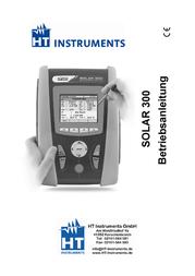 Ht Instruments Solar 300 NSolar meter, photovoltaic meter CAT IV 600V 1006700 User Manual