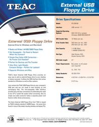 TEAC External USB Floppy Drive FD-05-PUK-BLACK Leaflet