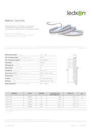 Ledxon LED strip pliable, moulded 12 Vdc 900 mm Red 623 nm 2000053 2000053 Data Sheet