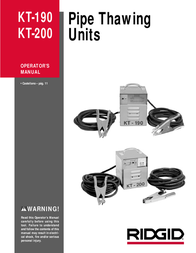 Ridgid rigid kt-190 User Manual