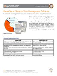 Spectracom PresenTense S-NTP-PTC-01 User Manual