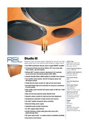 Rel Acoustics Stentor III Leaflet