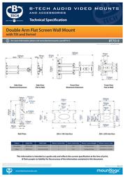 B-Tech LCD Articulating wall mount BT7515 Data Sheet