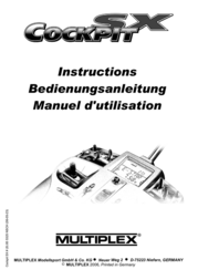"MULTIPLEX COCKPIT SX M-LINK ""telemetry""-Set 25131 Data Sheet"