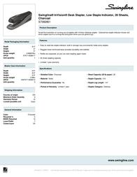 Swingline InVision S7082801 Leaflet