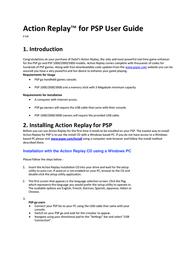 Datel REPLAY PSP 2000 User Manual