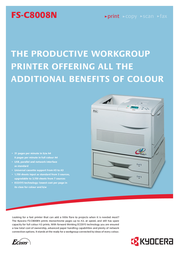 KYOCERA FS-C8008N Colour Laser Printer FS-C8008N Leaflet