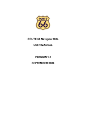 Route 66 Navigate Europe 2004 (Bluetooth) NLD-NL-393Y-PPC User Manual