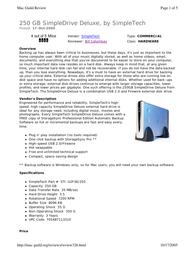 SimpleTech SimpleDrive Deluxe User Manual