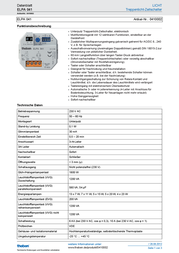 Theben Multiway switch (analog) 10 A 1 maker 8 V DC/AC, 12 V DC/AC, 24 V DC/AC, 110 V DC/AC, 230 V DC/AC 0410002 0410002 Data Sheet