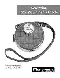 Acroprint Watchman C-72 Leaflet