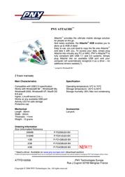 PNY Attaché 512MB USB 2.0 P-FD512U20-BX Leaflet
