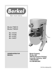Berkel FMS10 User Manual
