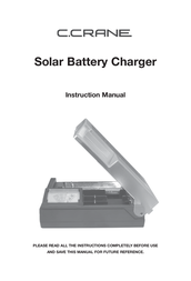 C.Crane Universal Solar Powered Battery Charger SBC Manuel D'Utilisation