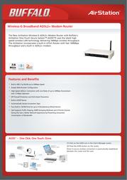 Buffalo Wireless-G Broadband ADSL2+ Modem Router WBMR-G54-1 Leaflet
