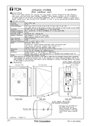 TOA F-1000WTWP Specification Guide