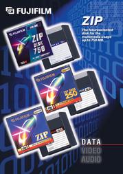 "Fujifilm ZIP Disk 250MB 3.5"" DOS 42539 Leaflet"