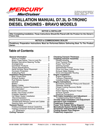 Mercury D7.3L D-TRONIC User Manual